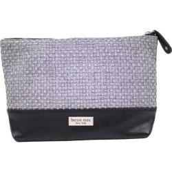 Women's Bernie Mev BM10 Large Cosmetic Bag Pewter/Black Faux Leather