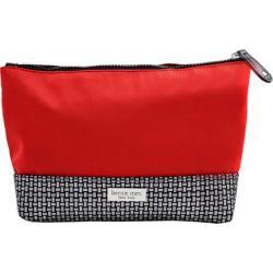 Women's Bernie Mev BM10 Large Cosmetic Bag Red Neoprene/Black Refelctive