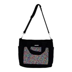 Women's Bernie Mev BM23 Extra Large Travel Tote Black Neoprene/Dazzle