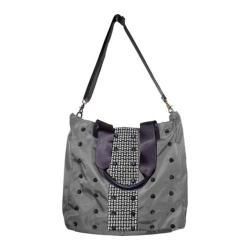 Women's Bernie Mev BM25 Studded Tote Grey Nylon/Black Reflective