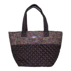 Women's Bernie Mev BM28 Double Handle Tote Black Quilted/Dazzle