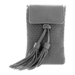 Women's Bernie Mev BM40 Cellphone Crossbody Tassle Bag Black Leather/Black