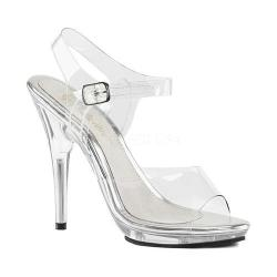 Women's Fabulicious Poise 508 Ankle-Strap Sandal Clear PVC/Clear (More options available)