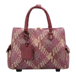 Women's Mellow World Firework Carry-On Laptop Roller Bag Large Burgundy
