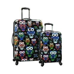 Traveler's Choice Owl 2-Piece Hardside Expandable Luggage Multicolor