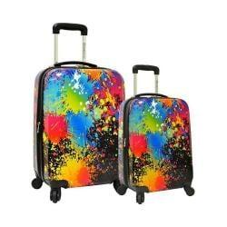 Traveler's Choice Paint Splatter 2-Piece Hardside Expandable Luggage Paint Splatter