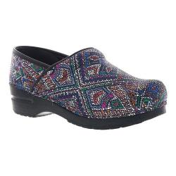 Women's Sanita Clogs Patience Professional Closed Back Clog Multicolor Printed Suede Leather