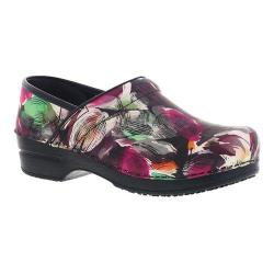 Women's Sanita Clogs Sharon Professional Closed Back Clog Multicolor Rubberized Leather