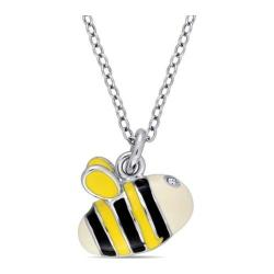Girls' Amour SHB000771 Bee Pendant with Sterling Silver Chain Sterling Silver