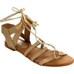 Women's Beston Dock-02 Gladiator Sandal Sand Faux Leather