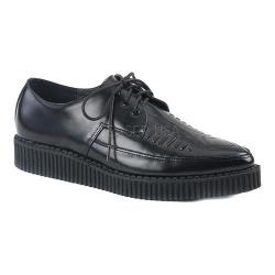 Men's Demonia Creeper 712 Lace-Up Black Leather