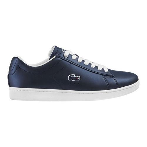 86e05d23ba6125 Shop Women s Lacoste Carnaby EVO 117 3 Sneaker Navy Synthetic Leather -  Free Shipping On Orders Over  45 - Overstock.com - 16331520