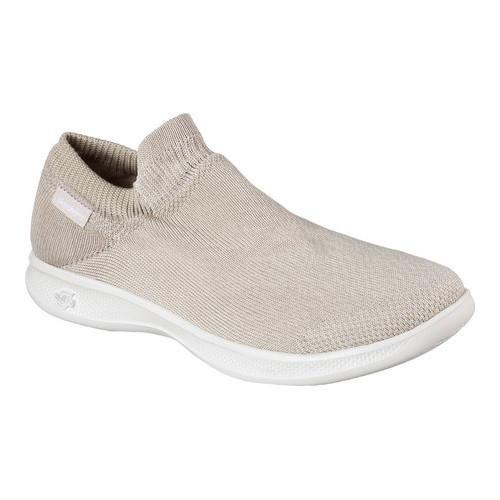 cfc26146fe Shop Women's Skechers GO STEP Lite Ultrasock Slip-On Shoe Taupe - Free  Shipping Today - Overstock - 16331574