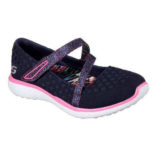 6dcfb04a72d9 Shop Girls  Skechers Microburst One Up Mary Jane Navy Hot Pink - Free  Shipping On Orders Over  45 - Overstock - 16331584