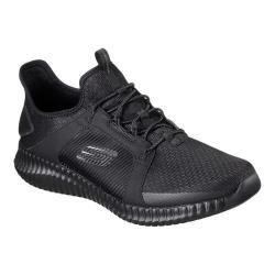 Men's Skechers Elite Flex Bungee Lace Shoe Black/Black