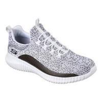Men's Skechers Elite Flex Muzzin Bungee Lace Shoe White/Black