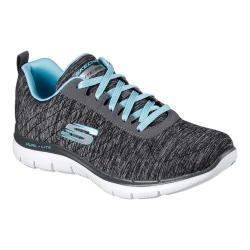 Women's Skechers Flex Appeal 2.0 Training Sneaker Black/Light Blue