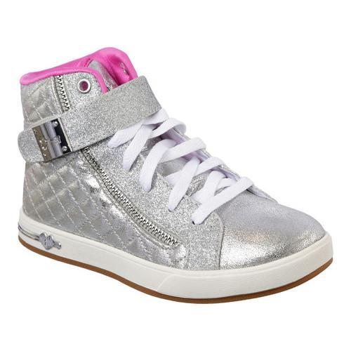 Skechers Shoutouts 2.0 Metallic Magic High Top Sneaker(Girls') -Navy Outlet Clearance cLBMiJf7