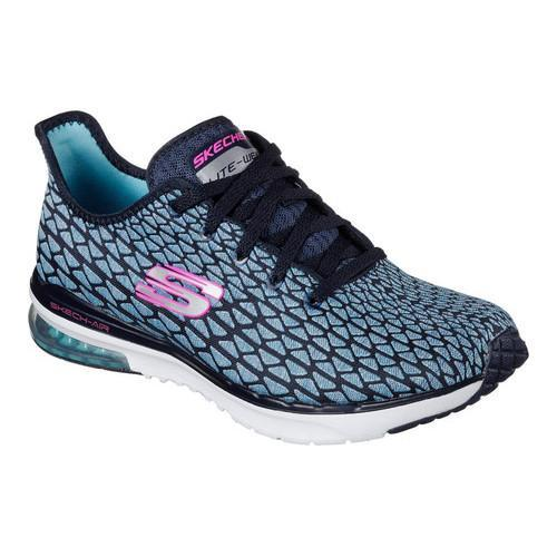 25cd24006ad48b Shop Women s Skechers Skech-Air Infinity Free Fallin Training Sneaker  Navy Turquoise - Free Shipping On Orders Over  45 - Overstock - 16331614