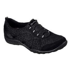 Women's Skechers Relaxed Fit Breathe Easy Sweet Darling Sneaker Black/Silver