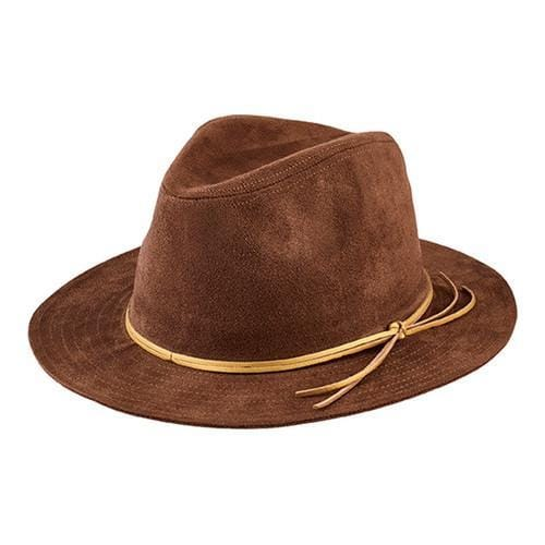Shop Women s San Diego Hat Company Faux Suede Fedora CTH8072 Brown - Free  Shipping On Orders Over  45 - Overstock - 16331710 23692e14d4f