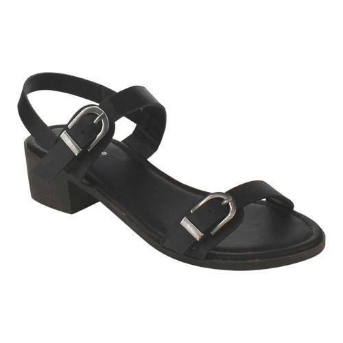 3a5c16d5a Shop Women s Wild Diva Lowry-03V-JP Quarter Strap Sandal Black Faux Leather  - Free Shipping On Orders Over  45 - Overstock - 16331761