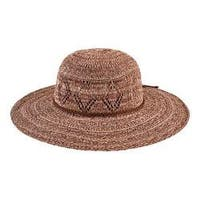 Women's San Diego Hat Company Marled Knit Floppy Hat CTH8080 Brown