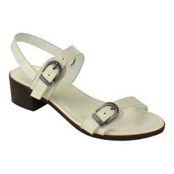 Women's Wild Diva Lowry-03V-JP Quarter Strap Sandal White Faux Leather