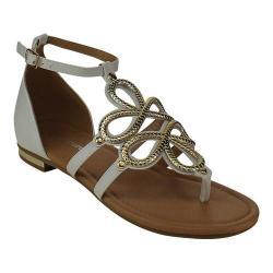 Women's Wild Diva Nora-95-FE Thong Sandal White Faux Leather