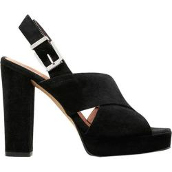 Women's Kenneth Cole New York Lola Platform Sandal Black Suede