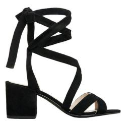 Women's Kenneth Cole New York Victoria Ankle-Tie Sandal Black Suede