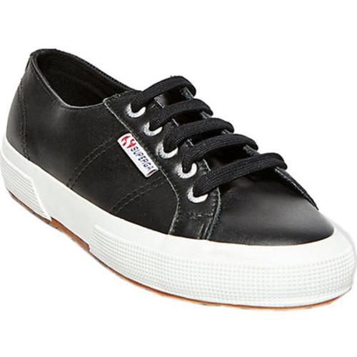 Women's Superga 2750 FGLU Sneaker Black Leather