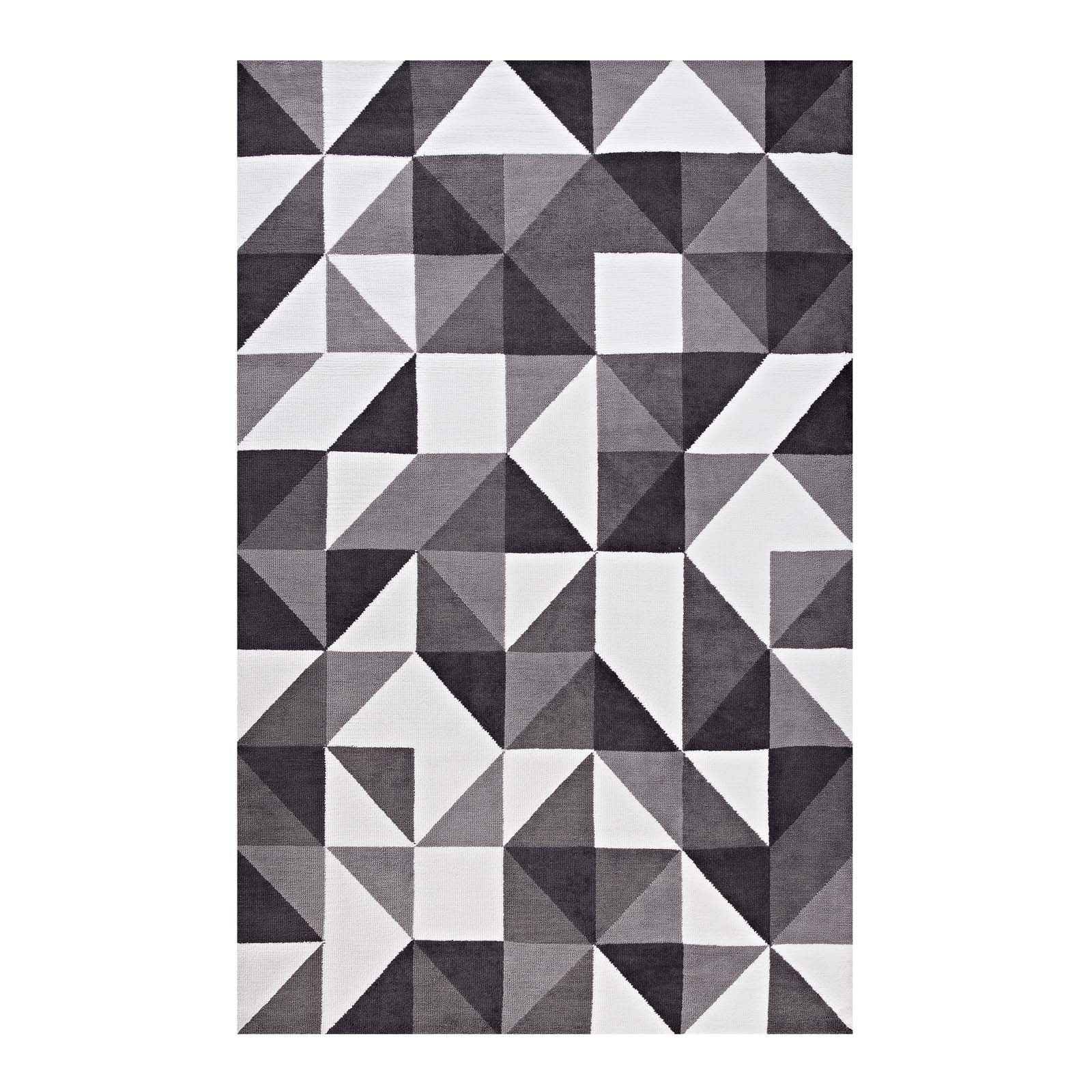 Picture of: Modern Black White Abstract Rug Geometric Triangles Pattern Contemporary Design Sisal Seagrass Area Rugs Home Garden