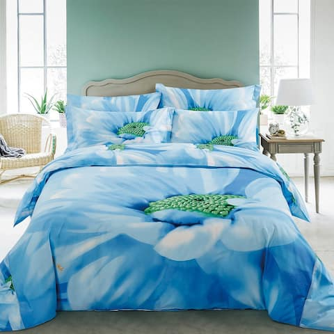 Floral Duvet Cover Set with Fitted Sheet Bedding by Dolce Mela - Multi-color