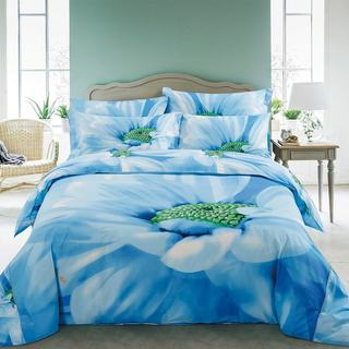 Floral Duvet Cover Set with Fitted Sheet Bedding by Dolce Mela