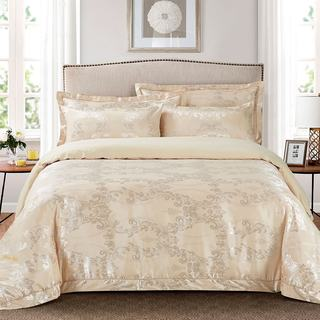 Jacquard Traditional 6-piece Duvet Cover Set by Dolce Mela (2 options available)