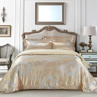 Jacquard Traditional 6 Piece Duvet Cover Set By Dolce Mela (2 Options  Available)
