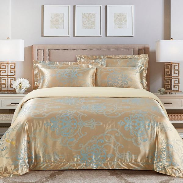 Jacquard Traditional 6-piece Duvet Cover Set by Dolce Mela. Opens flyout.