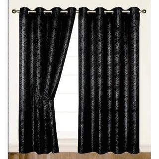 "Helen Extra Wide Grommet Single Window Curtain Panel - 84""x55"""