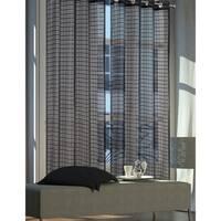 "New Elena Extra Wide Grommet Plaid Sheer Window Curtain Panel Pair - 84""x108"""