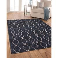 Greyson Living Farren Blue/Black/Natural Olefin Area Rug - 7'10 x 11'2