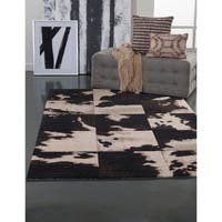 Orville Beige/Chocolate Area Rug by Greyson Living - 7'10 x 10'
