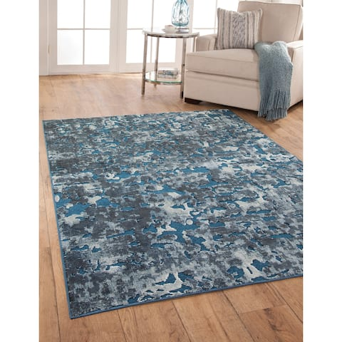 "Abigale Blue/Ivory Area Rug by Greyson Living - 7'10"" x 11'2"""
