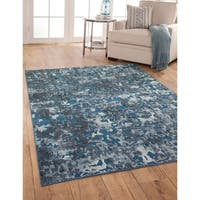 Abigale Blue/Ivory Area Rug by Greyson Living - 7'10' x 11'2