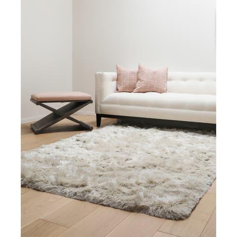 Brilliance Ivory Shag Area Rug by Greyson Living - 8' x 10'
