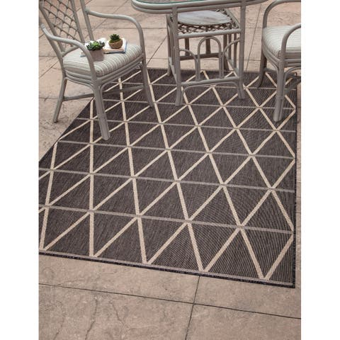 "Lanai Charcoal/Natural Area Rug by Greyson Living - 5'3"" x 7'9"""
