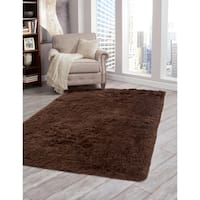 Brilliance Chocolate Shag Area Rug by Greyson Living - 8' x 10'