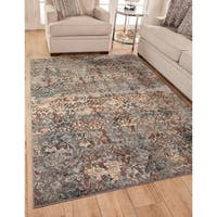 Brighton Grey/Pink/Blue/Mulit-color Area Rug by Greyson Living - 5'3 x 7'6