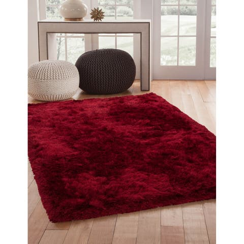 Brilliance Red Shag Area Rug by Greyson Living - 8' x 10'