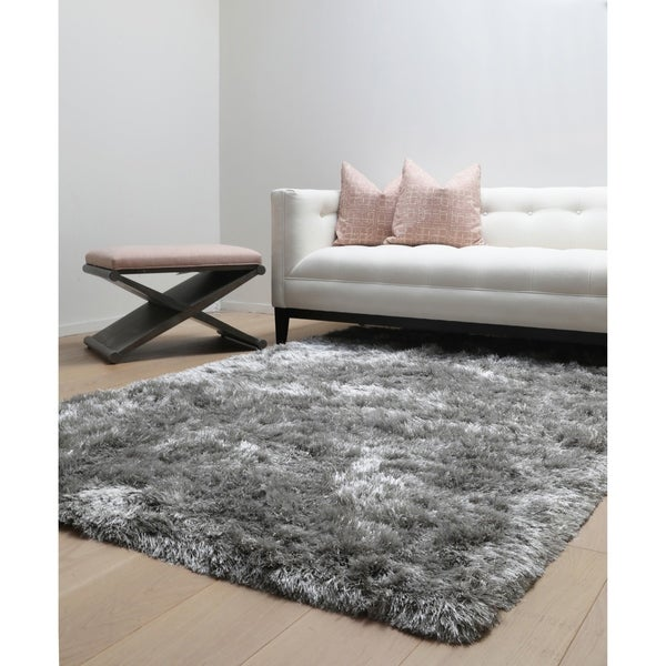 Brilliance Grey Shag Area Rug by Greyson Living - 8' x 10'